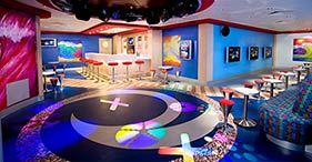 Norwegian Jade cruise ship Teen Club designed for young adults with video games,