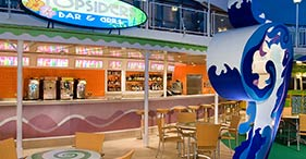 Norwegian Jade cruise ship Topsider's Bar & Grill close to the pool and hot tubs