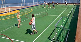 Norwegian Jewel cruise ship Basketball, Volleyball, and Tennis Courts.