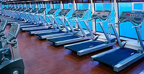 Norwegian Jewel cruise ship Body Waves Fitness Center with classes from 6am to 1