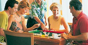 Norwegian Jewel cruise ship Cardroom featuring board games, bridge, chess, and m