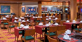 Norwegian Jewel cruise ship Chin Chin Asian Restaurant with Japanese, Chinese, a