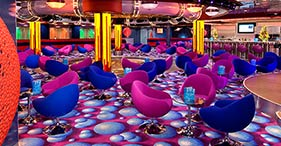 Norwegian Jewel cruise ship FYZZ Cabaret Lounge & Bar with 3 private Karaoke roo