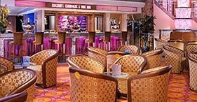 Norwegian Jewel cruise ship Magnum's Champagne & Wine Bar with a French Art Deco