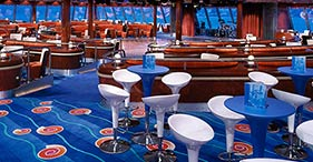 Norwegian Jewel cruise ship Spinnaker Lounge with windows on the floor for a vie