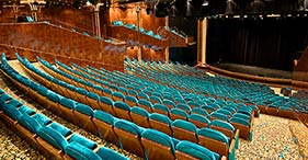 Norwegian Jewel cruise ship Stardust Theatre featuring a European Art Nouveau Th