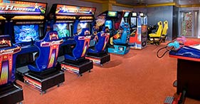 Norwegian Jewel cruise ship Video Arcade featuring a variety of games.