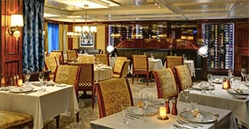 Norwegian Epic cruise ship Le Bistro French Restaurant.