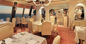 Norwegian Epic cruise ship La Cucina Italian Restaurant.