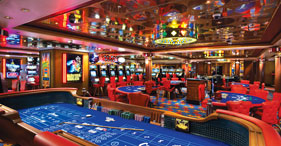 Norwegian Star cruise ship guests at casino.