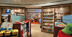 Norwegian Star cruise ship The Galleria Shops offering a wide selection of brand