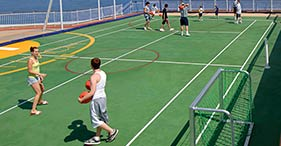 Norwegian Pearl cruise ship Basketball, Volleyball, and Tennis Courts.