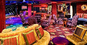 Norwegian Pearl cruise ship Bliss Ultra Lounge & Nightclub with bowling alley.