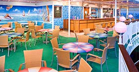 Norwegian Pearl cruise ship Sky High Grill with hot air balloon theme.