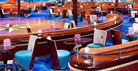 Norwegian Pearl cruise ship Spinnaker Lounge with dance floor.