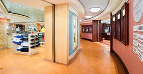 Norwegian Pearl cruise ship Trade Routes Boutiques with a wide selection of bran