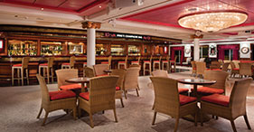 Pride of America cruise ship Pinks Champagne & Cigar Bar.