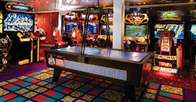 Pride of America cruise ship Blast Off Video Arcade features a variety of games.