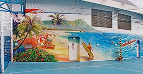 Norwegian Sky cruise ship Basketball and Volleyball Court.