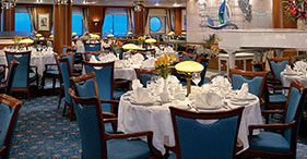 Norwegian Sky cruise ship Crossings Main Dining Room with views of both sky and