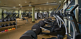 Norwegian Star cruise ship Barong Fitness Center with class from 6am to 11pm.