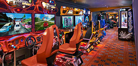Norwegian Star cruise ship Video Zone with a variety of arcade games.