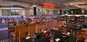 Norwegian Star cruise ship Ginza Asian Restaurant will Japanese, Chinese, and Th