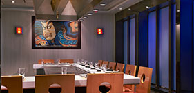 Norwegian Star cruise ship Teppanyaki Room with Asian food cooked right in front