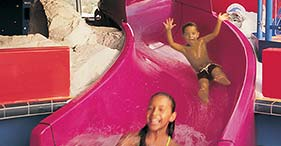 Norwegian Star cruise ship Splash Down Kids Pool with waters slides, a paddling