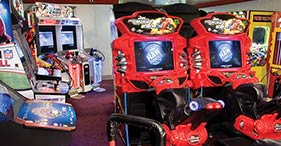 Norwegian Sun cruise ship Video Zone with a variety of arcade games.