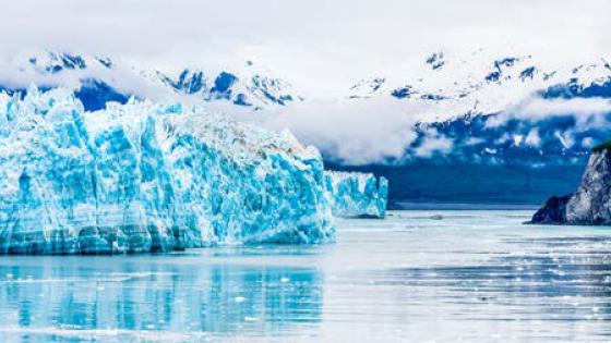 Blue Ice of Hubbard Glacier, Alaska